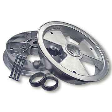 "8"" AZUSA Tri-Star Wheel, 4"" Wide With Races (For Tapered Roller Bearing)"