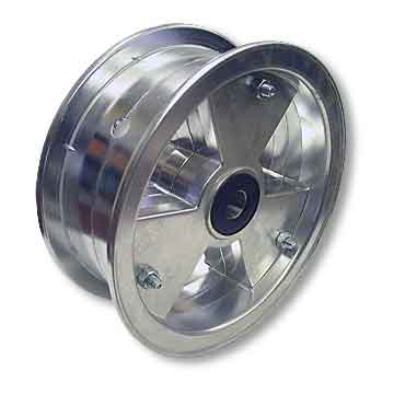 "8"" AZUSA Tri-Star Wheel, 3"" Wide With 5/8"" Sealed Tapered Roller Bearing"