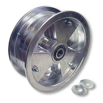 "8"" AZUSA Tri-Star Wheel, 3"" Wide With 3/4"" Tapered Roller Bearing"