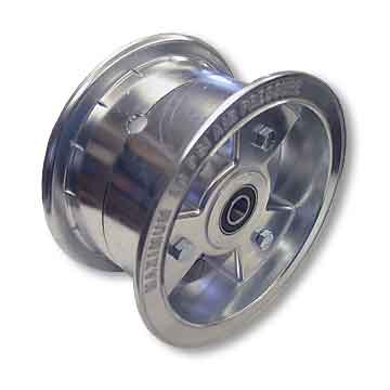 "6"" AZUSA Tri-Star Wheel, 3.5"" Wide With 3/4"" Sealed Ball Bearings"