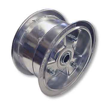 "6"" AZUSA Tri-Star Wheel, 3.5"" Wide With 3/4"" Standard Ball Bearings"
