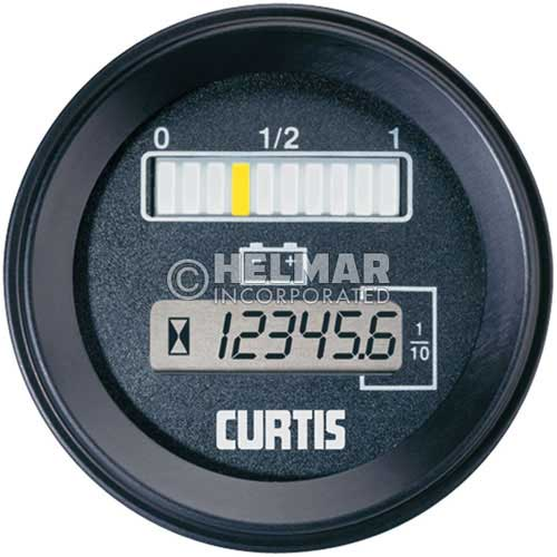 Battery 24 Volt Hour Meter : Rb bn curtis battery and hour gauge model