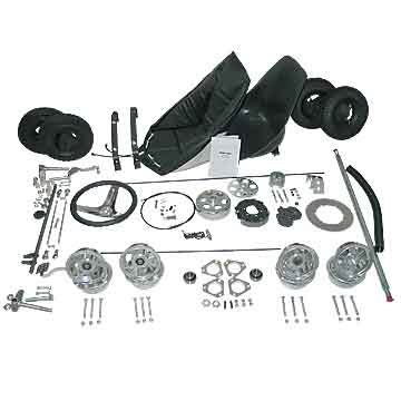 "Go-Kart Kit - 5"" Aluminum Wheels (No Frame)"