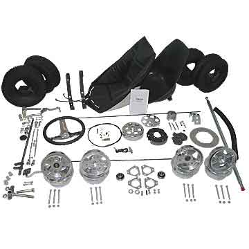 "Go-Kart Kit - 6"" Aluminum Wheels (No Frame)"