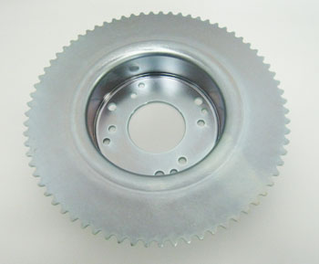"#35 72T 4-1/2"" Sprocket Drum for Tristar Wheel Internal Brake"