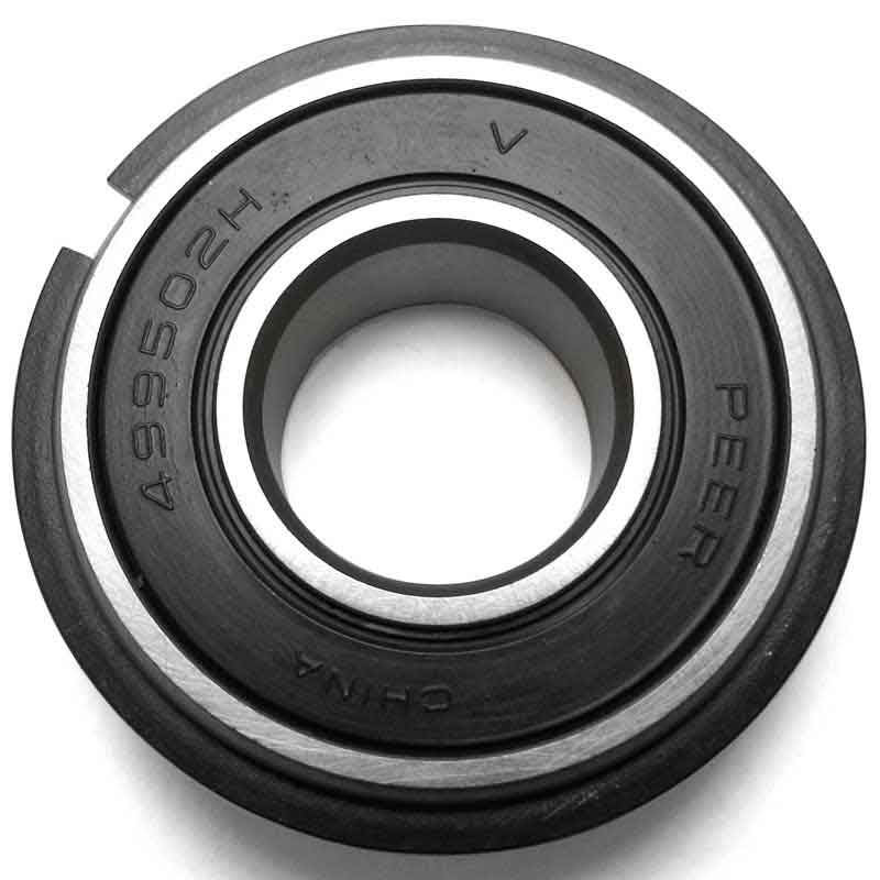 "5/8"" ID x 1-3/8"" OD x 7/16"" Thick Precision Sealed Ball Bearing with Snap Ring"