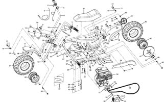 baja replacement parts for db30-g/db30c-g doodle bug/viper ... 97cc engine diagram #9